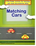Autism MATCHING CARS File Folder Game for Special Education and Autism