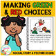 Social Story Making Green & Red Choices Book + Cards Autism