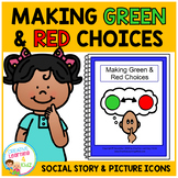 Social Story Making Green & Red Choices Book + Picture Icons Autism