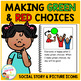 Social Story Making Green & Red Choices Book + PECS Autism