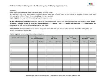 Autism Manding Worksheet
