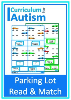 Autism, Read & Match Parking Lot Car Theme Special Education, Speech Therapy