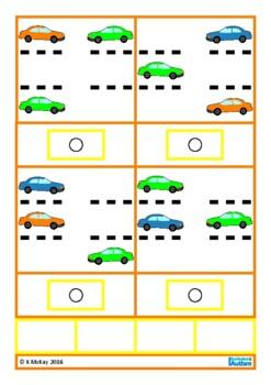 Read Match Colors Positions Parking Lot Autism Special Education Speech