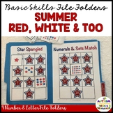 Autism Matching File Folders: Red, White, & Two {Special E