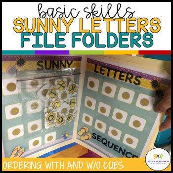 Autism Matching File Folders: Sunny Letters {Special Education, Early Childhood}