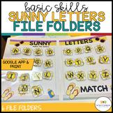 Summer Alphabet Matching File Folders: Print & Distance Learning