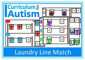 Autism Matching Skills, Colors & Clothes, Special Educatio
