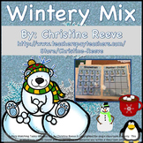 Autism Matching Tasks: Wintery Mix of Letters and Numbers {Special Ed, EC}