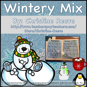 Autism Matching Tasks: Wintery Mix of Letters and Numbers
