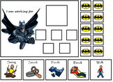 Autism:  Mavel Superhero Token Boards