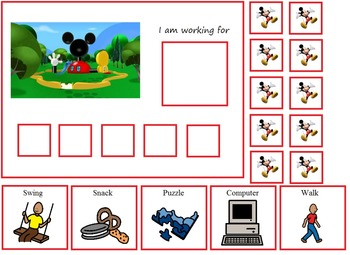 Autism:  Mickey Mouse Clubhouse Token Board