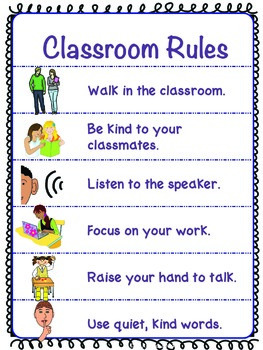 Autism Middle & High School Classroom Visual Rules & Cueing Lanyard*Solid Colors