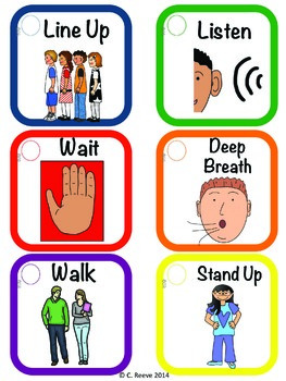 Autism Middle Amp High School Classroom Visual Rules