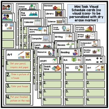 Autism. Mini visual task schedules.Classroom. Organization