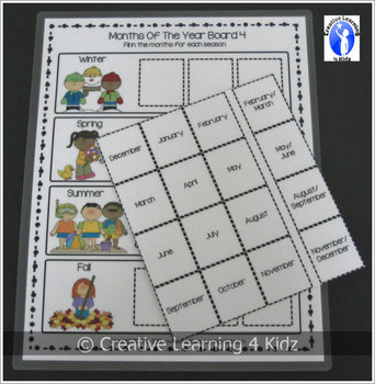 Months of the Year Boards & Flashcards