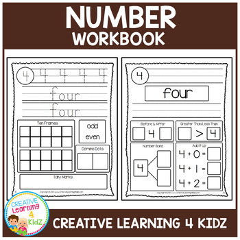 Numbers 1-20 Workbook ABA Autism
