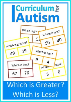 Numbers to 100 Greater Less Autism Special Education