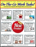 Autism ON THE GO Work Task Cards LARGE with Target Skills/CCSS Aligned (SET 1)