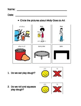 Autism & PDD:  Social Skills at School; Matt & Molly Worksheets