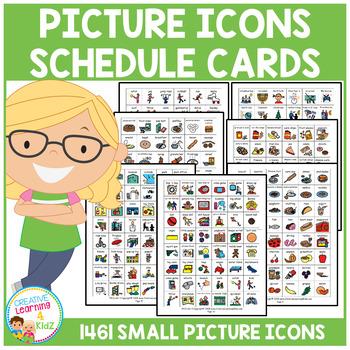 Visual Schedule Cards Autism PECS