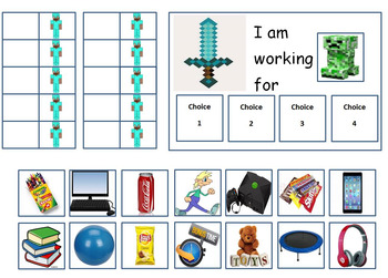 Autism:POPULAR TOKEN BOARDS(Angry Birds,5 Nights at Freddy's,MineCraft, Simpsons