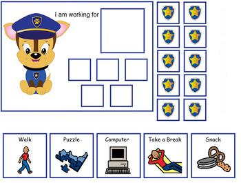 Autism:  Paw Patrol Token Boards
