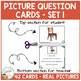 Picture Question Inference Cards Set 1