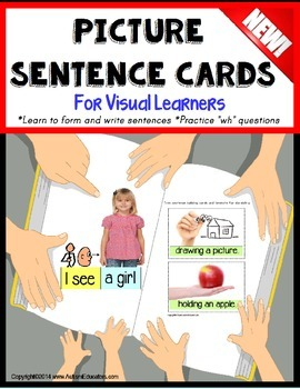 Autism Picture Sentence Cards for Reading/Writing/Sentence