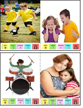 Autism and Special Education Picture Writing Prompt Cards Visual Support Symbols