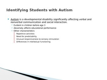 Autism Power Point