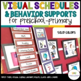 Autism Visual Schedules & More for Prek - Elementary Classrooms in Solid Colors