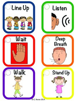 autism prekelementary classroom visual rules amp cueing