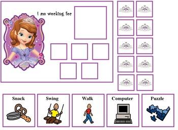 Autism:  Princess Sophia Token Board