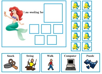 Autism:  Princess Token Board Pack