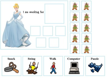 Autism:  Princess Token Board Pack
