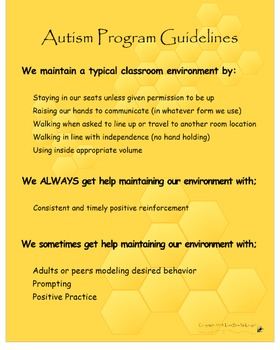 Autism Program Guidelines