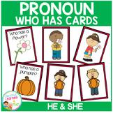 Pronoun Who Has Cards Set 1 He & She