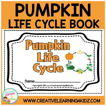 Pumpkin Life Cycle Cut & Paste Book