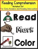 Autism READING COMPREHENSION WORKSHEETS For Special Education Distance Learning