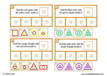 Shapes Read and Find Autism Special Education