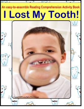 Autism Reading Comprehension Activity Book {I Lost My Tooth!}