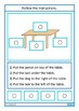 Autism Reading & Following Directions Task Boards, Special Education
