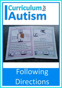 Reading and Following Directions Autism Special Education