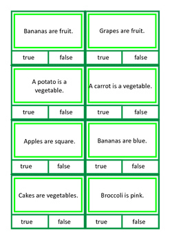 Autism Reading Comprehension Cards: True False, Yes No, Ask Tell BUNDLE