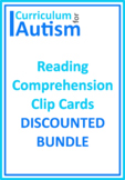 Autism Reading Comprehension True False Yes No Ask Tell BUNDLE