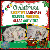 Autism Receptive Vocabulary Activities for Christmas: Feature Function Class