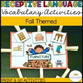 Autism Receptive Vocabulary Activities for Fall: Feature F