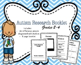 Autism Awareness Activity - Research Booklet