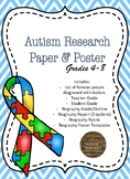 Autism Awareness Acitivities - Research Paper and Posters