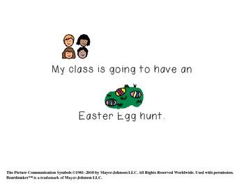 Autism Resource- Easter Egg Hunt Social Story